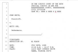 Formatting Legal Transcripts in Word